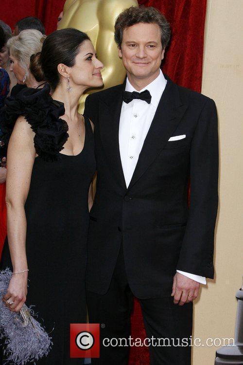 Colin Firth and Livia Giuggioli The 82nd Annual...