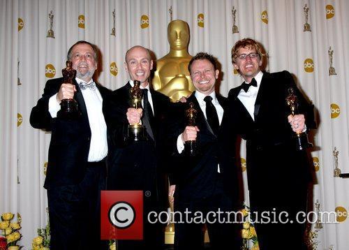 (L-R) Joe Letteri, Stephen Rosenbaum, Richard Baneham and...