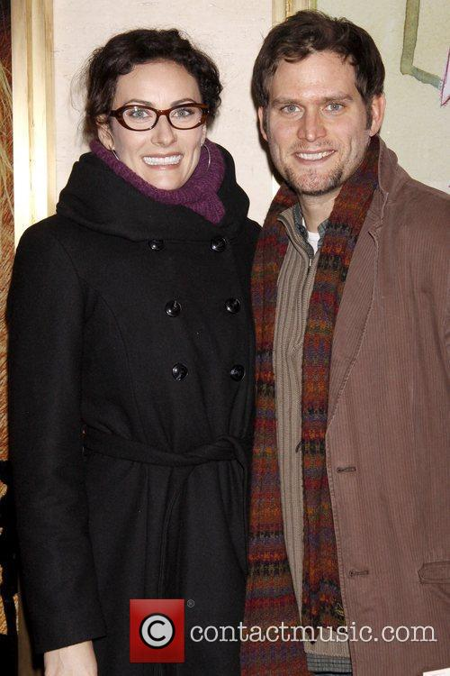 Laura Benanti and Steven Pasquale Opening night of...