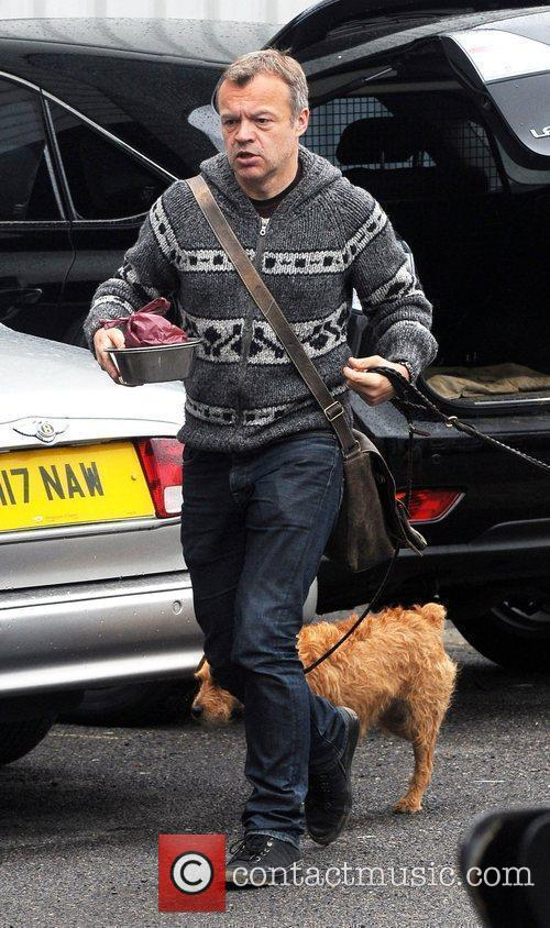 Graham Norton arrives at the Fountain Studios to...