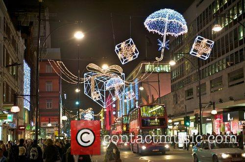 Oxford Street christmas lights are switched on in...
