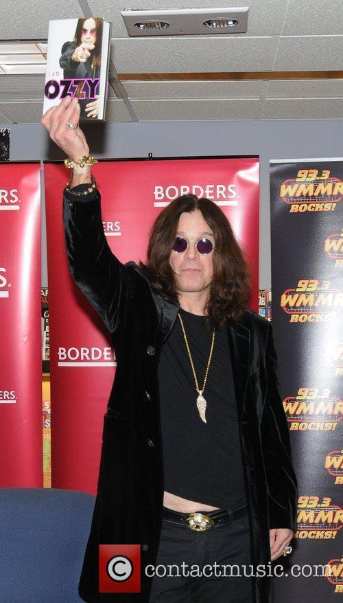 Signs Copies Of 'I Am Ozzy' at Borders...