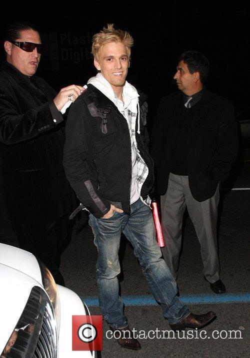 Aaron Carter outside the P Diddy Grammy Awards...
