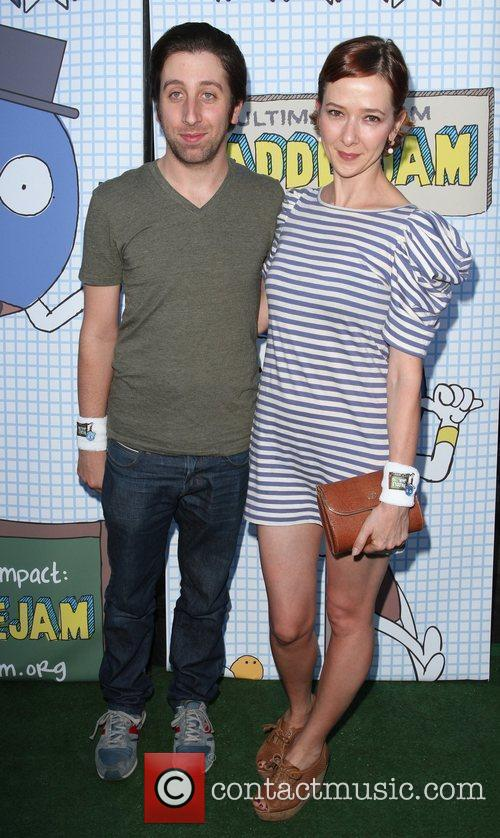 Simon Helberg and his wife Jocelyn Towne The...