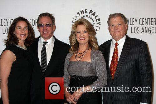 Tim Allen, Al Michaels, Burt Sugarman and Mary Hart