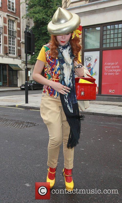 Paloma Faith arriving at the BBC Radio One...