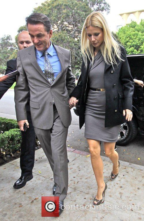 Gwyneth Paltrow  arriving and leaving Il Cielo...