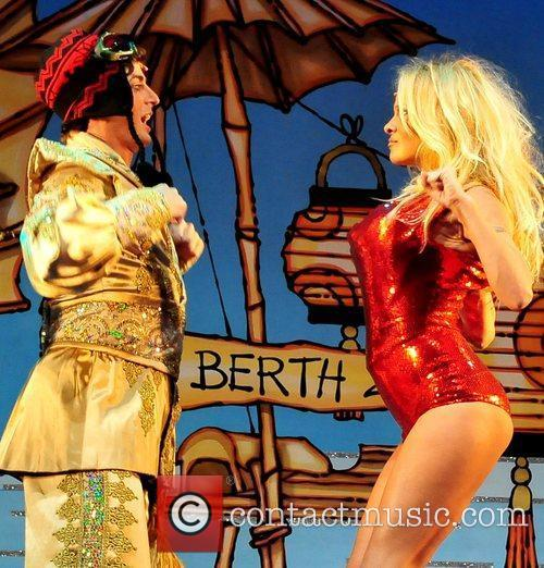 Pamela Anderson Opening night performance of the Christmas...