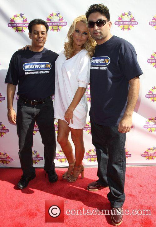 Pamela Anderson with Millions Of Milkshakes Founders Pamela...