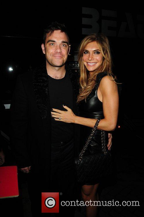 Robbie Williams and wife Ayda Field  'Pantos...