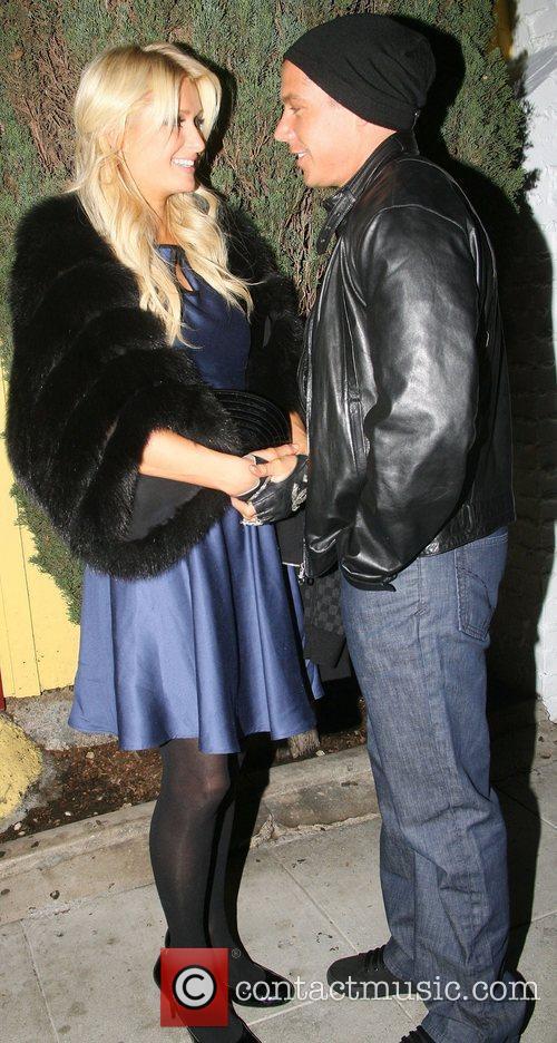 Paris Hilton her boyfriend Cy Waits are seen...