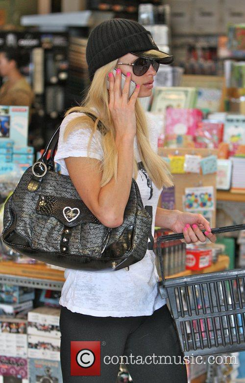 Paris Hilton out shopping at Blick Art Supplies...