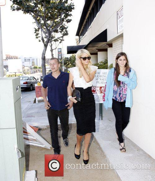 Paris Hilton, her brother and Barron Hilton 12