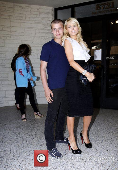 Paris Hilton, her brother and Barron Hilton 11