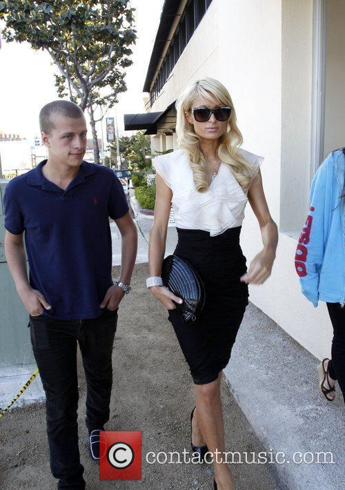 Paris Hilton, Her Brother and Barron Hilton 8