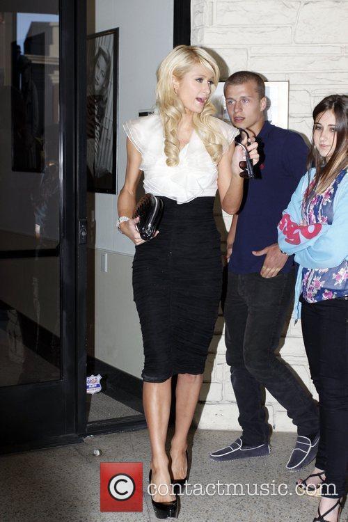 Paris Hilton, her brother and Barron Hilton 1