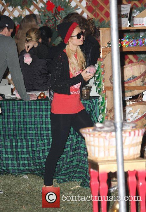 Paris Hilton shopping for christmas decorations at Mr....
