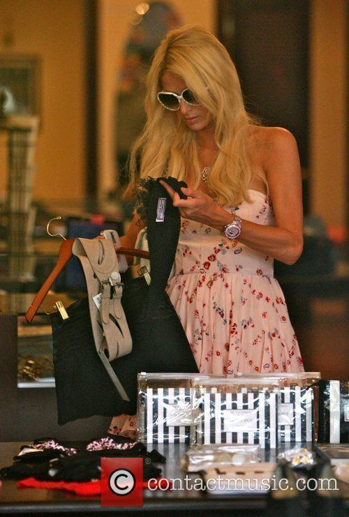 Paris Hilton goes shopping on 3rd Street with...