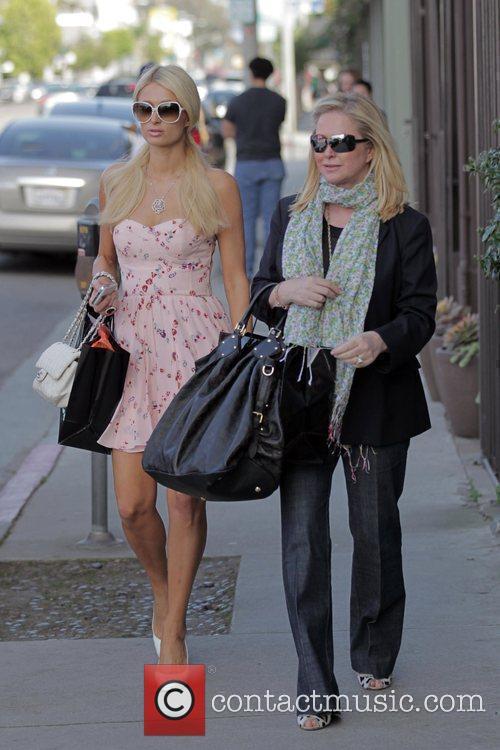 Paris and Kathy Hilton seen shopping on 3rd...