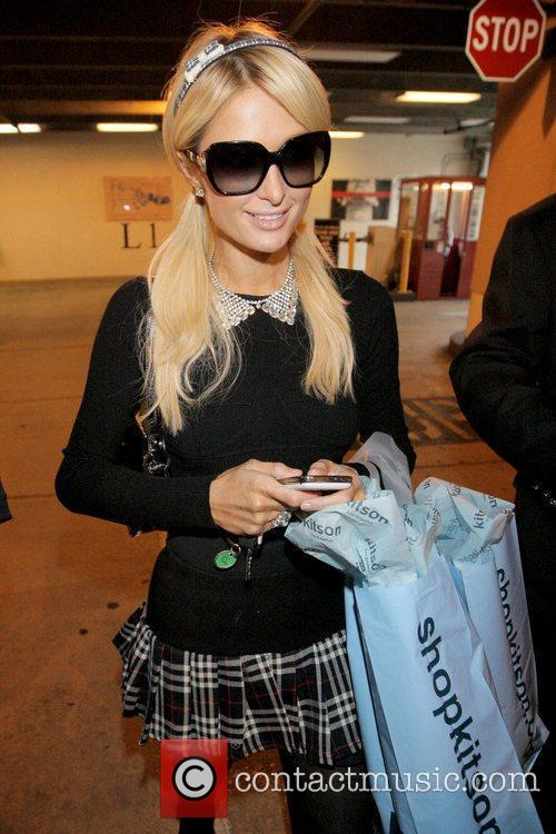 Paris Hilton shopping for last minute Christmas gifts...