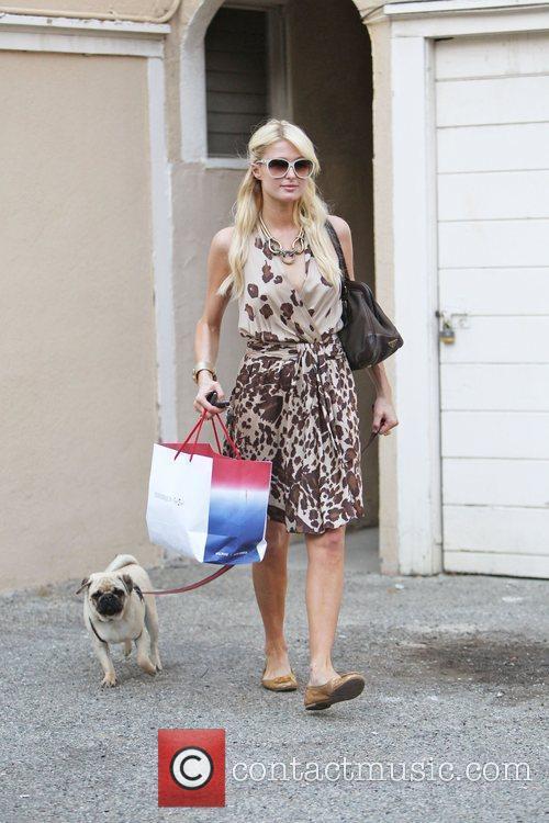 Paris Hilton seen leaving a friends house in...