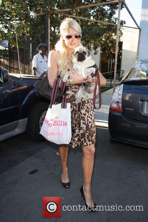 Paris Hilton seen leaving Petro Zillia on Third...
