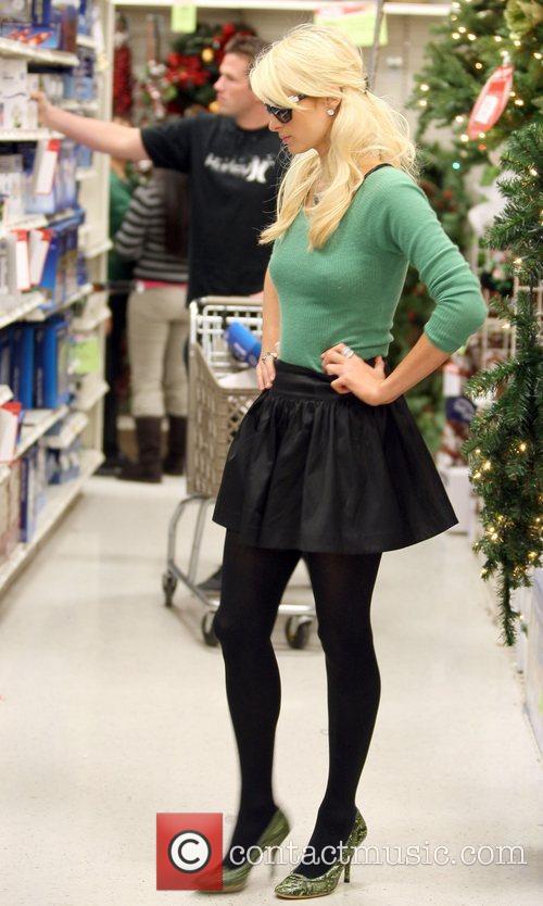 With her boyfriend Doug Reinhardt shopping for christmas...