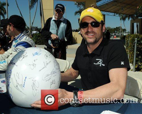 Patrick Dempsey prior to the Miami Grand Prix...