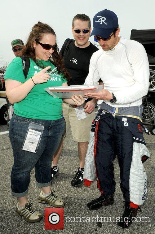 Patrick Dempsey at the practice day for the...