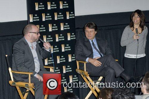 Paul Giamatti, Robert Lantos and Robin Bronk at...