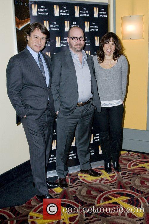 Robert Lantos, Paul Giamatti and Robin Bronk at...
