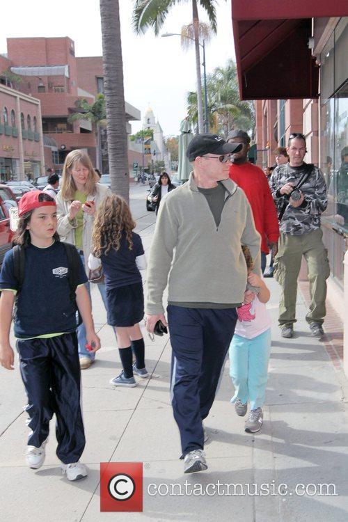 American film & television actor Paul McCrane walking...