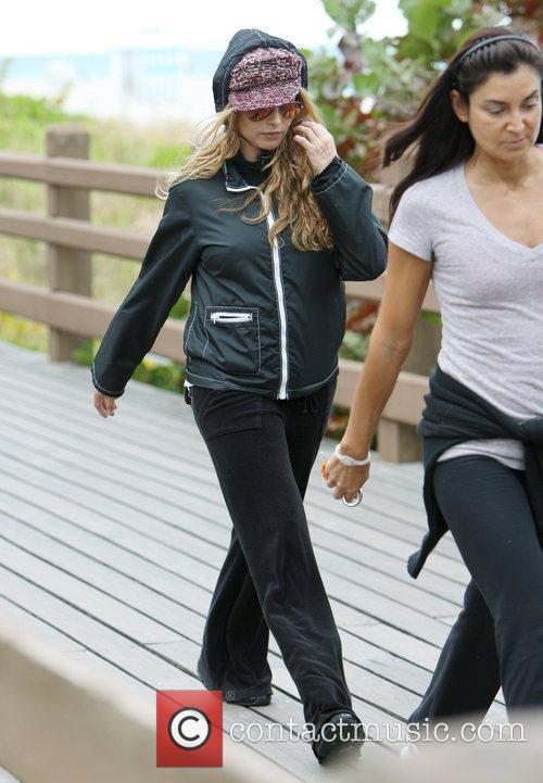 Is seen going for a power jog in...
