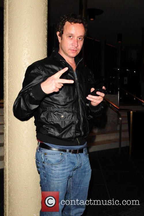 Pauly Shore  poses for photographs while on...
