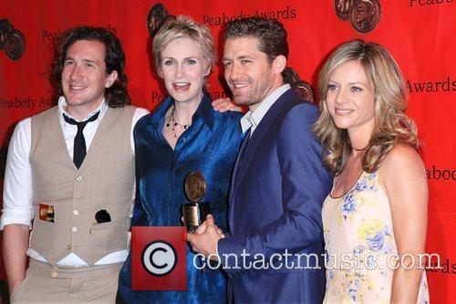 Jane Lynch, Ian Brennan, Jessalyn Gilsig and Matthew Morrison 6