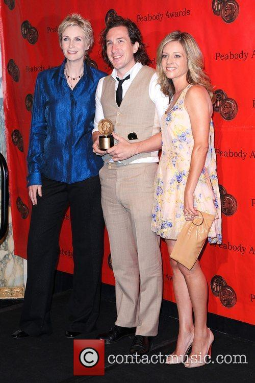 Jane Lynch, Ian Brennan and Jessalyn Gilsig 5