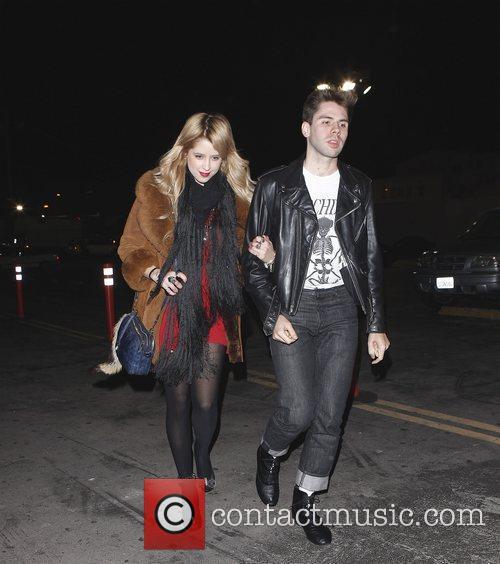 Leaving Bardot nightclub with a friend