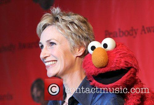 Actress Jane Lynch and Elmo  attend the...