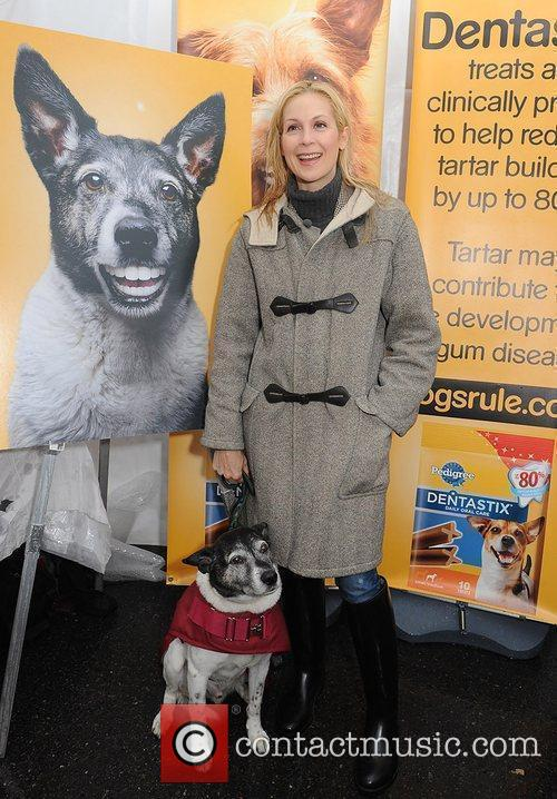 Gossip Girl actress Kelly Rutherford and her dog...