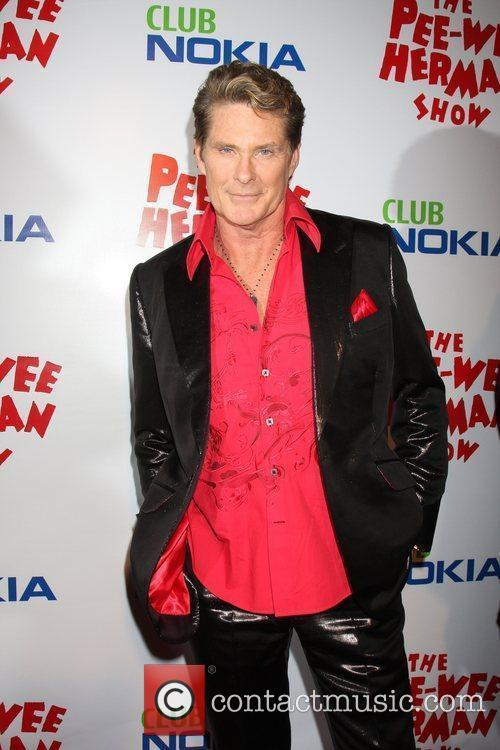 David Hasselhoff at the opening night of the...