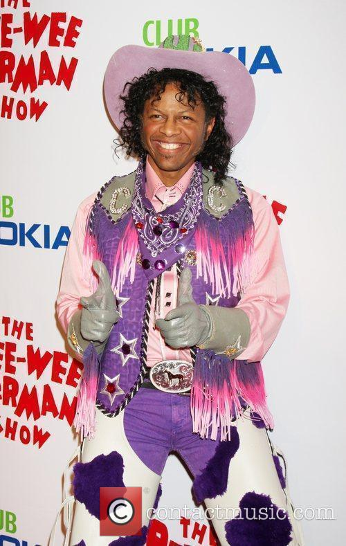 Phil LaMarr as Cowboy Curtis at the opening...