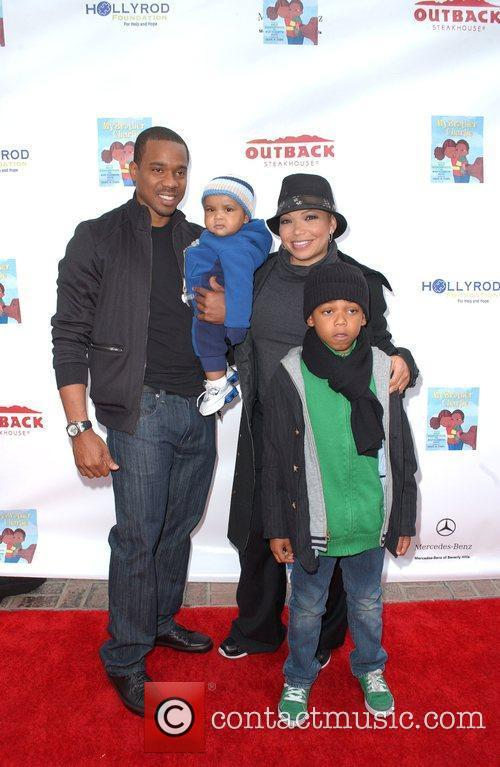 Duane Martin, Tisha Campbell-Martin and family The launch...