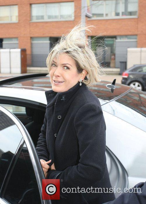Penny Smith leaving the ITV studios the day...