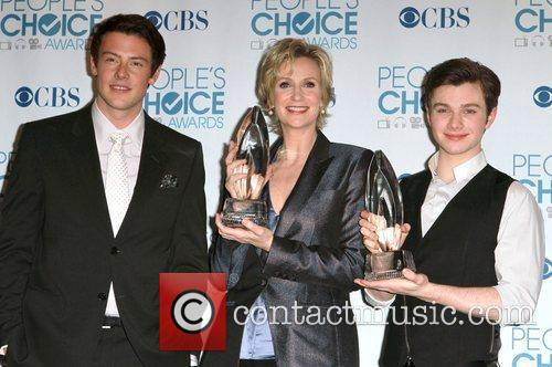 Cory Monteith, Chris Colfer and Jane Lynch 11
