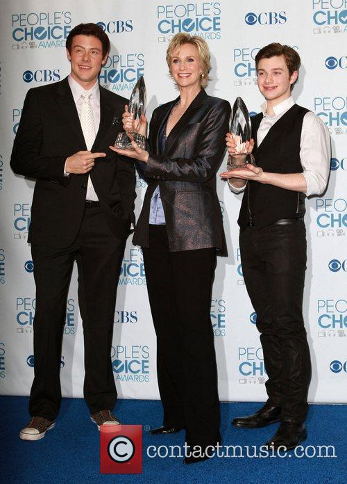 Cory Monteith, Chris Colfer and Jane Lynch 9