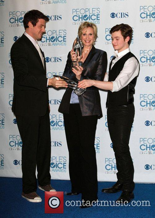Cory Monteith, Chris Colfer and Jane Lynch 7