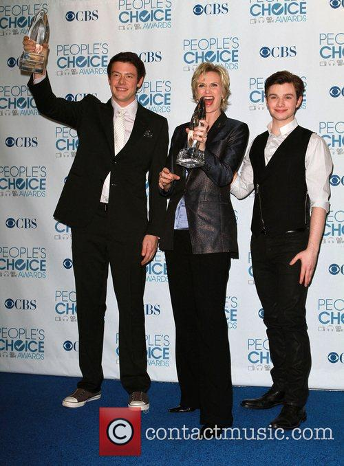 Cory Monteith, Chris Colfer and Jane Lynch 5