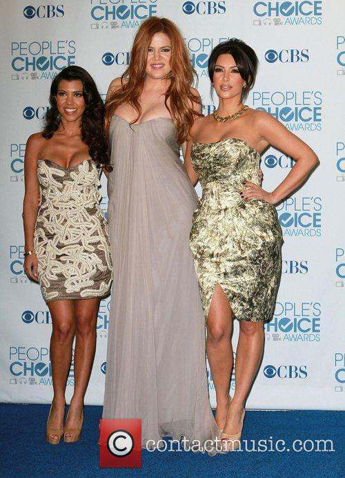 Kourtney Kardashian, Khloe Kardashian, Kim Kardashian, People's Choice Awards