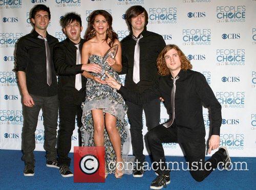 Selena Gomez, Chris Colfer and Jane Lynch 5