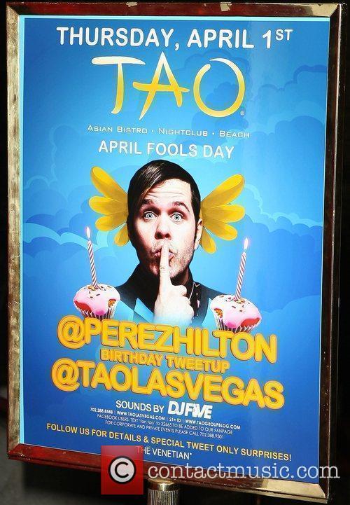 Perez Hilton celebrates his birthday at TAO Worship...